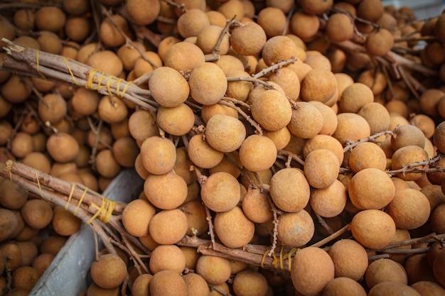 Bunch of longan at market' fruit.