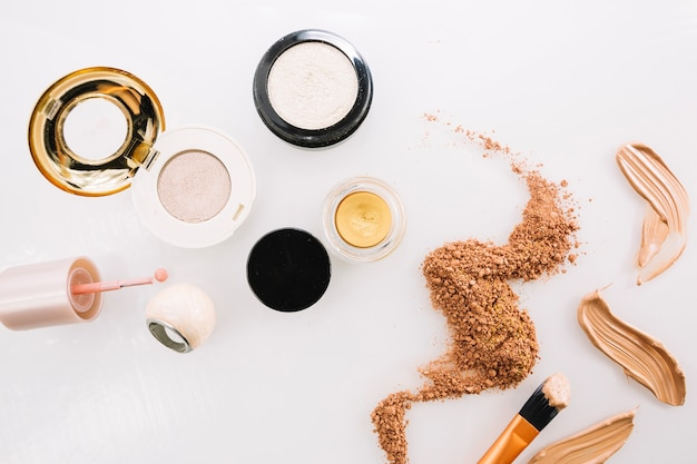 Bunch of makeup foundations