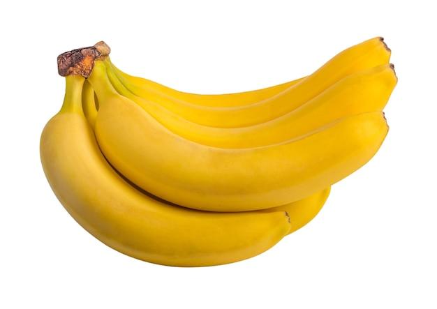 바나나 흰색 배경에 고립의 무리입니다. 클리핑 경로.
