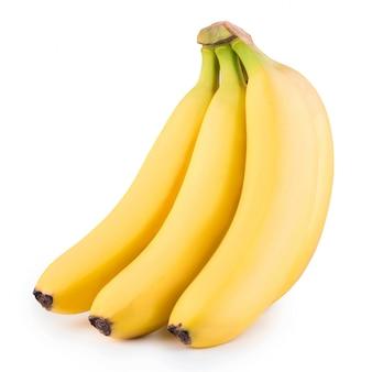 Букет из бананов, изолированных на белом фоне