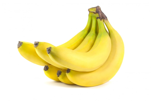 Гроздь бананов, изолированные на белой поверхности