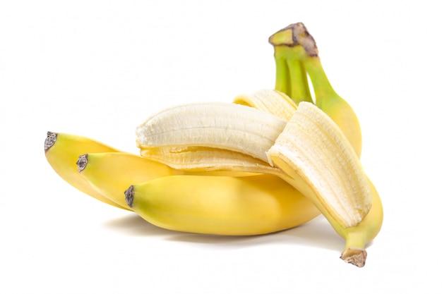 開いている1つのバナナの束