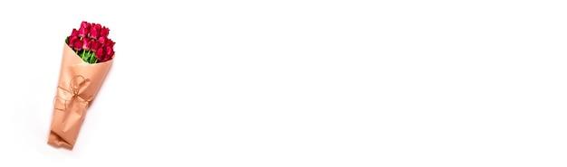 섬세한 봄 튤립 흰색 절연의 무리