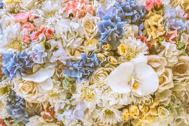花の束、ヴィンテージの背景。