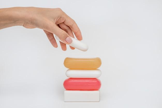 Связка мыла разной формы
