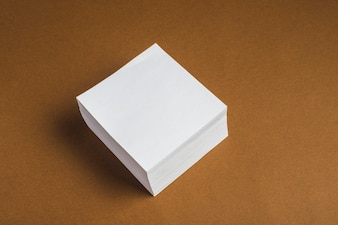 Bunch of white sticky note
