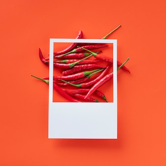 A bunch of red chili peppers