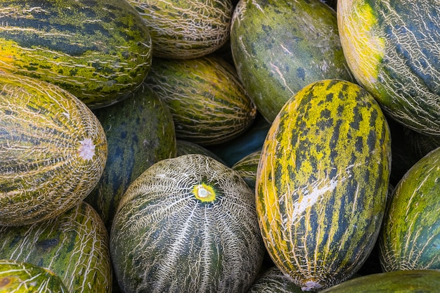 Bunch of ripe melons
