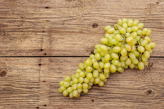 Bunch of sweet green seedless grapes variety