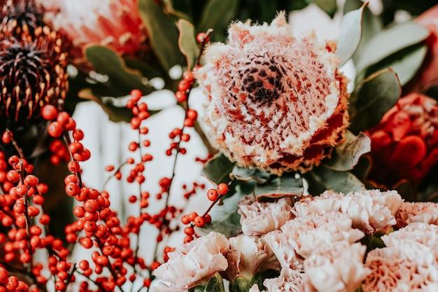 花屋の花の束