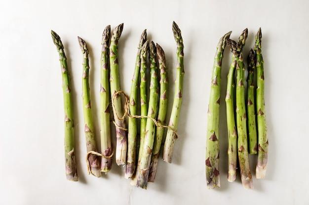 Bundle of green asparagus