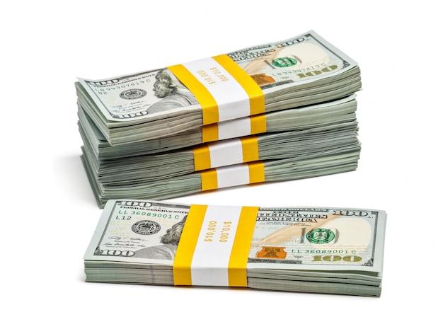 Пачка 100 долларов сша 2013 года выпуска банкнот