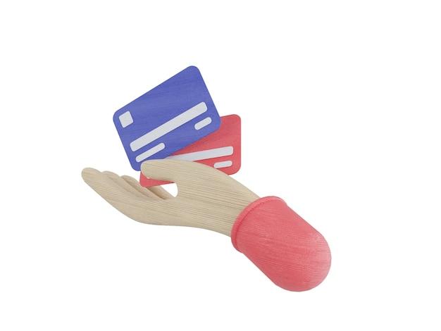 번들 현금 및 부동 동전 아이콘 파란색 분홍색 배경 3d 그림을 설정