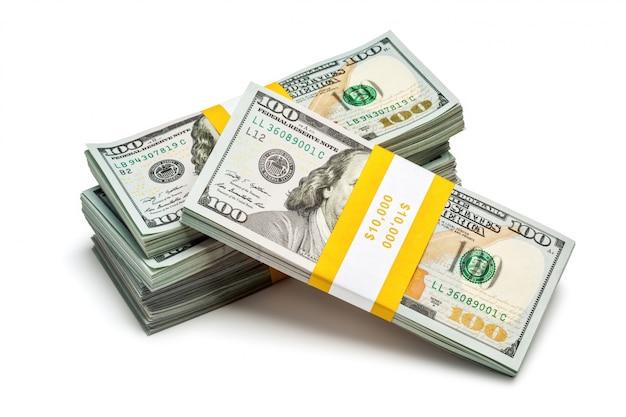 Пачки 100 долларов сша 2013 года выпуска банкнот