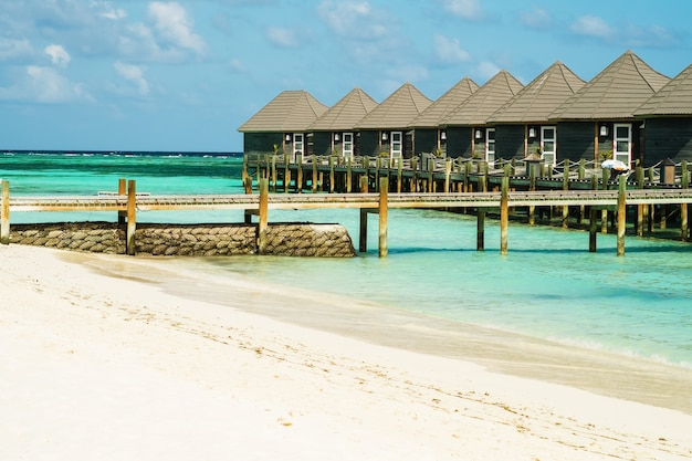 Bungalow by the ocean white sand beac