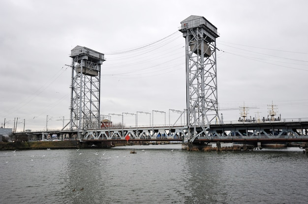 Bunk drawbridge in kaliningrad, russia