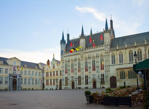 Burg square in old town, bruges, belgium