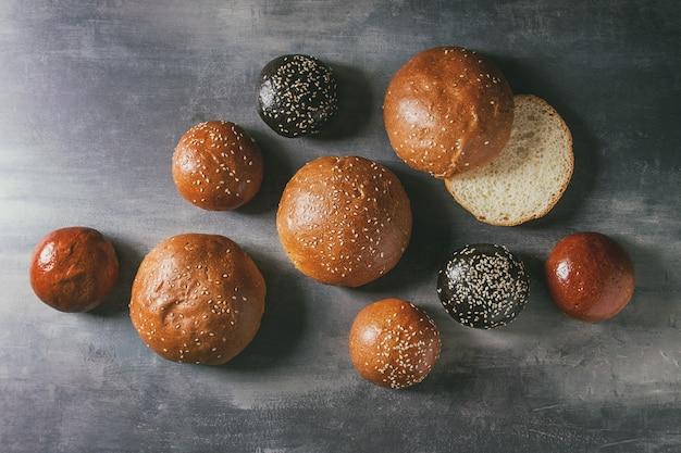 Burger buns variety