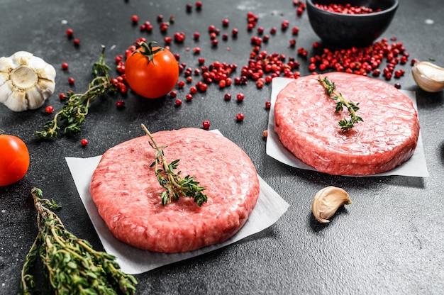 Котлеты для бургеров, сырой свежемолотый, мясной фарш
