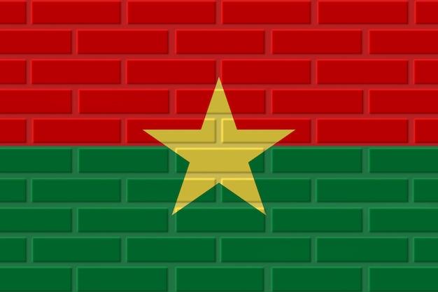ブルキナファソのレンガの旗のイラスト