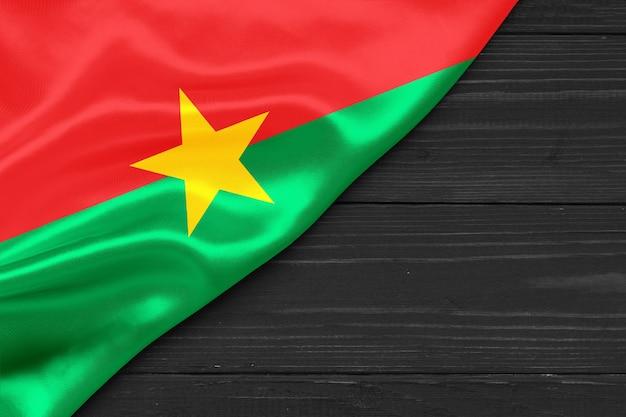 Burkina faso flag copy space