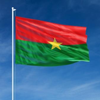 Burkina faso flag flying