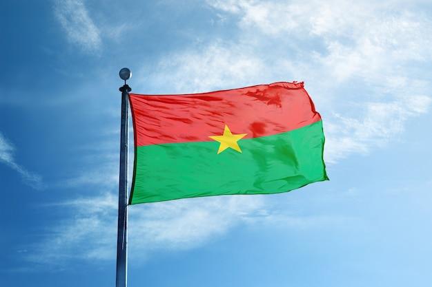 Burkina faso flag on the mast