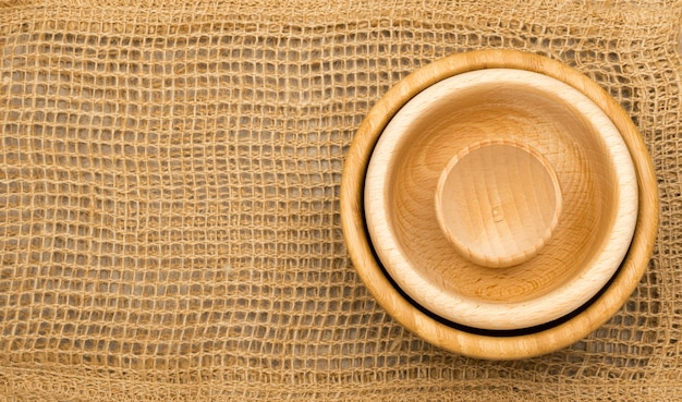 Burlap background or old linen canvas