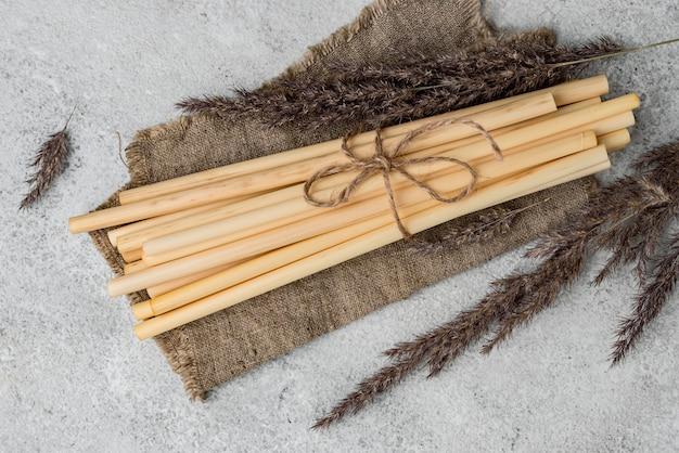 黄麻布環境にやさしい環境竹管ストロー