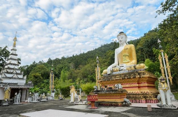 Burmese seated buddha image in thailand