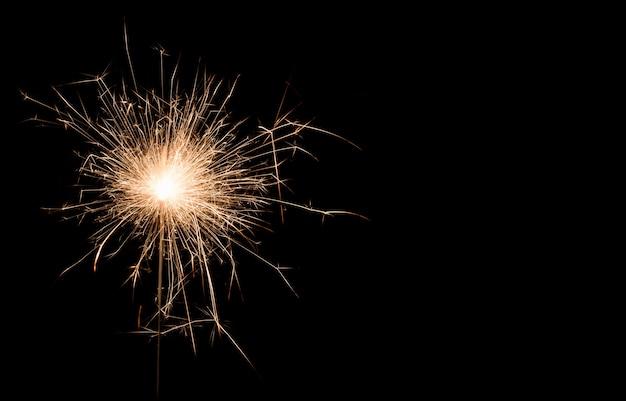Burning sparkler, happy new year