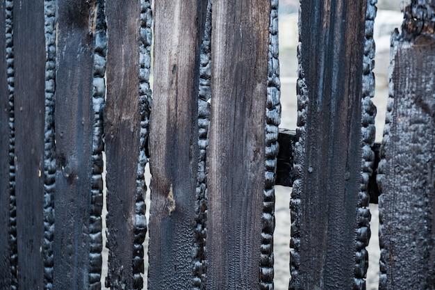 民家で火災が発生し、柵板が焼けた。注意深く思慮のない火の取り扱いの結果。
