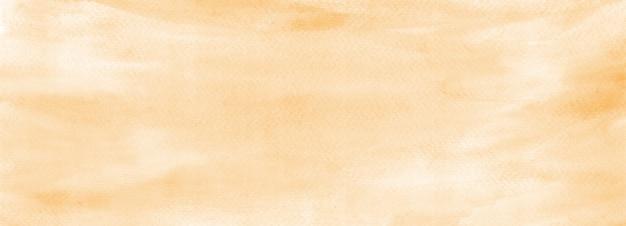 Сгоревшие желтые пастельные акварельные текстуры абстрактный фон панорамный баннер нанимает файл сканирования