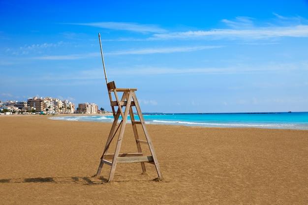 Burriana beach in castellon of spain