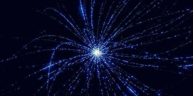 Burst curve laser light black technology concept background image 3d illustration