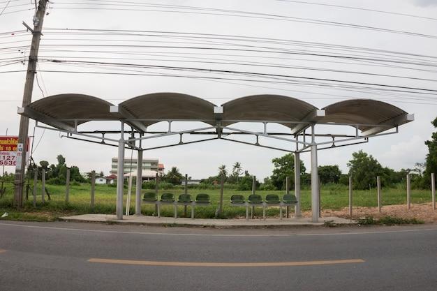 Bus stop .bangkok
