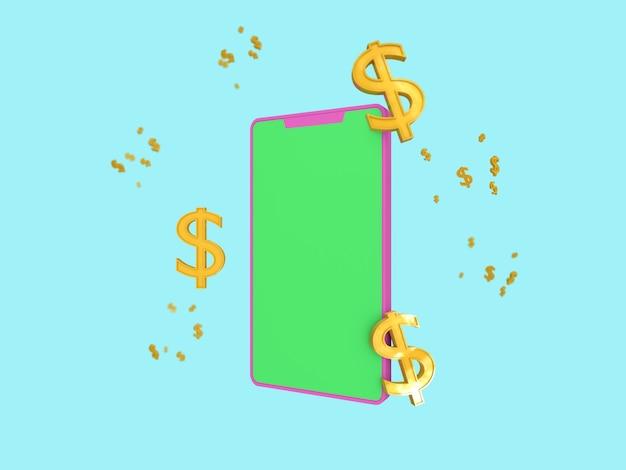 Иконка бизнес 3d на фоне пастельных тонов.