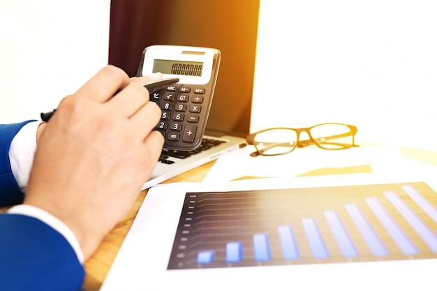 Business accounting plan concept