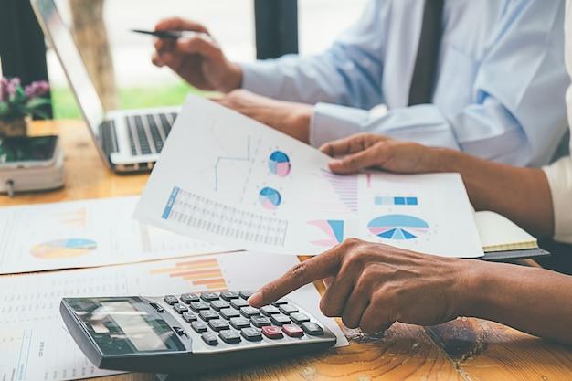 Business advisor analyzing financial figures