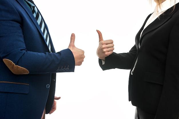 業務契約。取引先同士の手振り