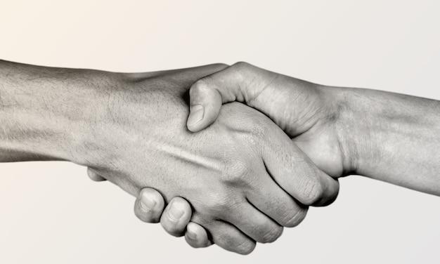 Business agreement handshake . black and white