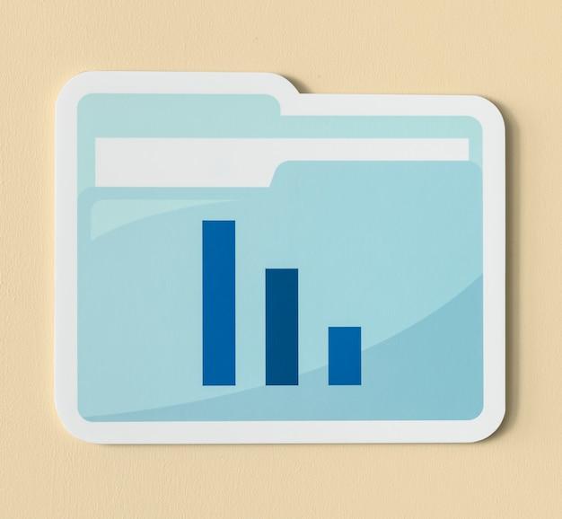 Значок папки отчета бизнес-анализа