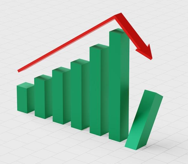 Концепция бизнеса и банкротства. обанкротившийся граф с рецессией
