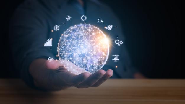비즈니스 및 기술 개념