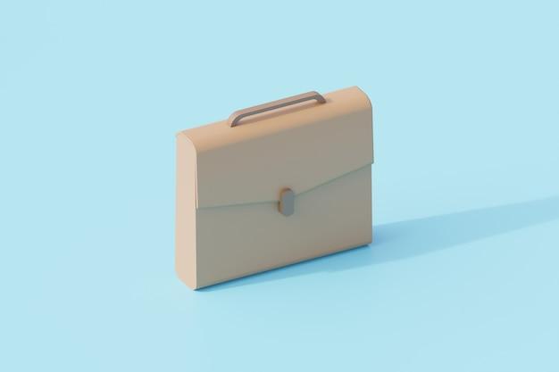 Бизнес сумки офисный единый изолированный объект. 3d рендеринг