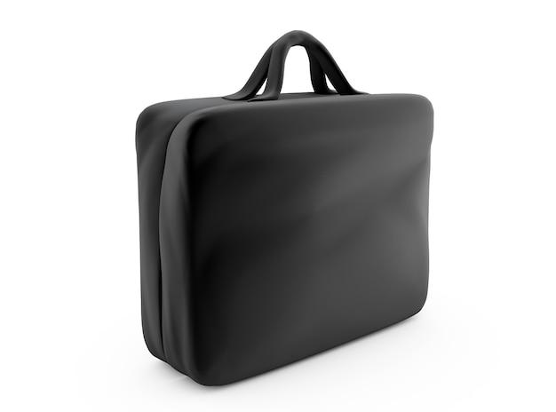 Деловой портфель, изолированные на белом фоне 3d визуализации