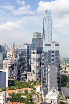 Business building and financial district at singapore city