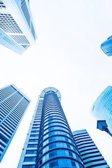 Бизнес зданий архитектура отражение внешние