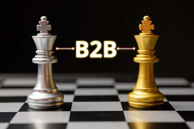 Business to business concept with chess