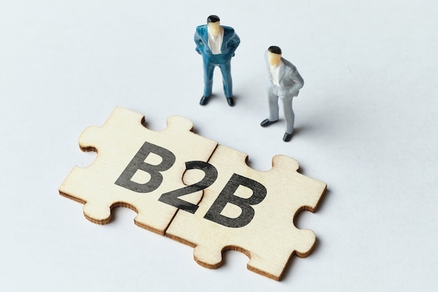 Business to business concept with puzzle
